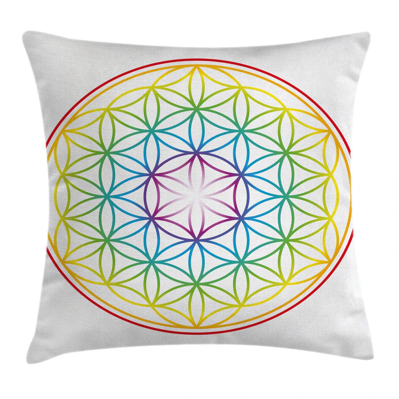 East Urban Home Flower Of Life Indoor Outdoor Geometric 40 Throw Pillow Cover Wayfair