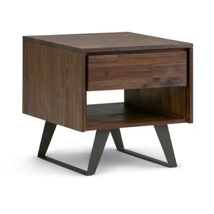 Union Rustic Elle End Table with Storage