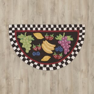Compare prices Arpdale Black Fruit Area Rug By Charlton Home