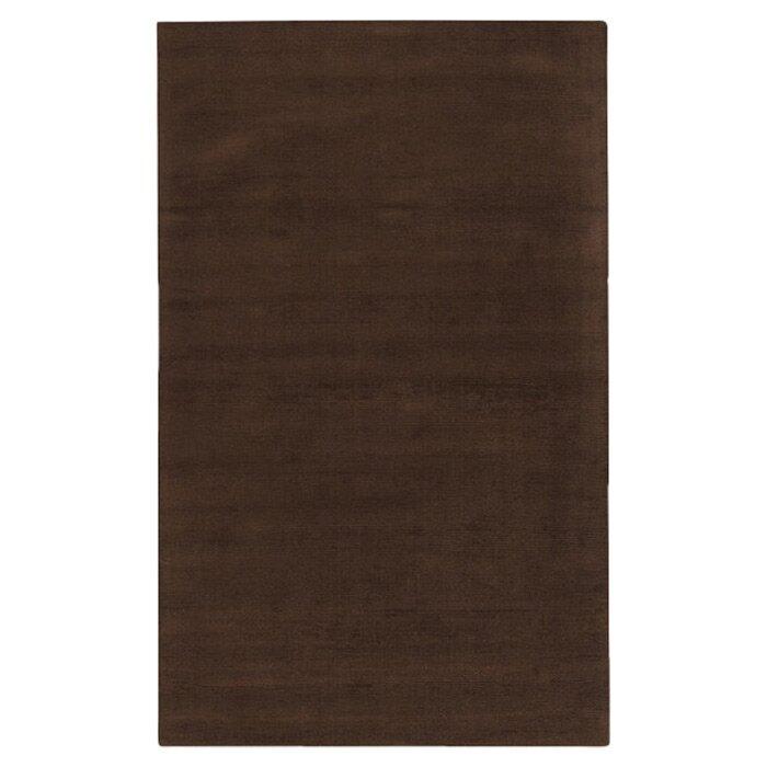 Villegas Hand Hooked Wool Brown Area Rug Reviews Allmodern