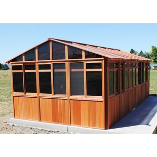 Westview Manufacturing Solchalet 13 Ft. W x 29 Ft. D Solid Wood Patio Gazebo