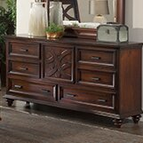 Cayman 6 Drawer Combo Dresser