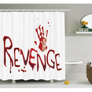 Bloody Handprint With Blood Single Shower Curtain by Ambesonne No Copoun