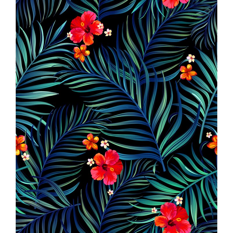 Bay Isle Home Armand Tropical Vintage 10 L X 24 W Smooth Peel And Stick Wallpaper Roll Wayfair