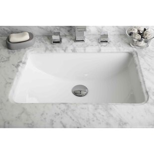 American Imaginations Ceramic Rectangular Undermount Bathroom Sink with Overflow