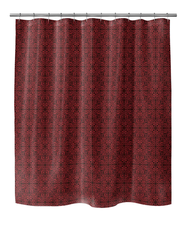 Bloomsbury Market Crestwood Geometric Single Shower Curtain Wayfair