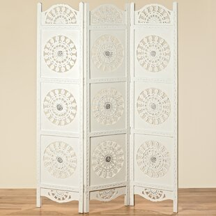 Frary 3 Panel Room Divider by Bungalow Rose