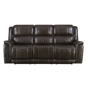 Guineau Leather Reclining Sofa..