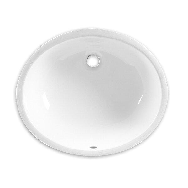 American Standard Ovalyn Vitreous China Oval Undermount Bathroom Sink With Overflow Wayfair