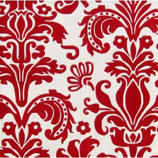 Olney Hand-Tufted White/Red Area Rug By The Conestoga Trading Co.
