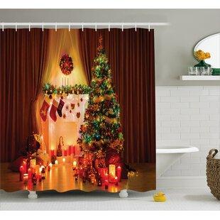 Finest Christmas Shower Curtains You'll Love   Wayfair GE78