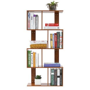 Sakamoto 4 Tier Shelves Display Geometric Bookcase By Wrought Studio