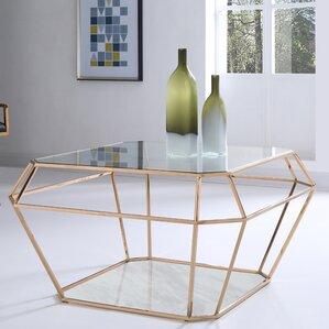 Superb Jayleen Hexagon Coffee Table Amazing Pictures