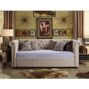 Reviews Bannruod Chesterfield Twin Daybed by House of Hampton Reviews (2019) & Buyer's Guide