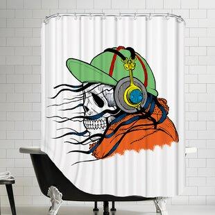 Skull Horror Single Shower Curtain