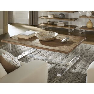 Dellroy Reclaimed Wood and Acrylic Accent Table by Brayden Studio