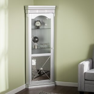 Adriana Lighted Corner Curio Cabinet