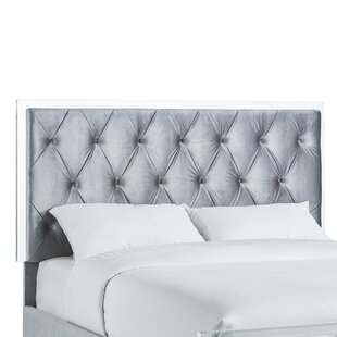 Willa Arlo Interiors Harmen Button-Tufted Velvet Upholstered Panel Headboard