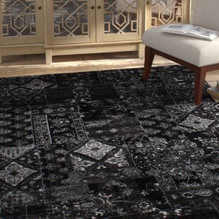 Great Price One-of-a-Kind Ossu 65 x 92 Black Area Rug ByBungalow Rose