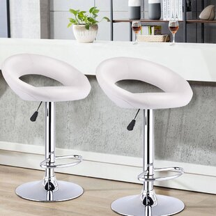 Segarra Swivel Adjustable Height Stool Set of 2 by Brayden Studio
