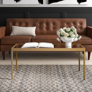 Wickliffe Glass and Metal Coffee Table by..