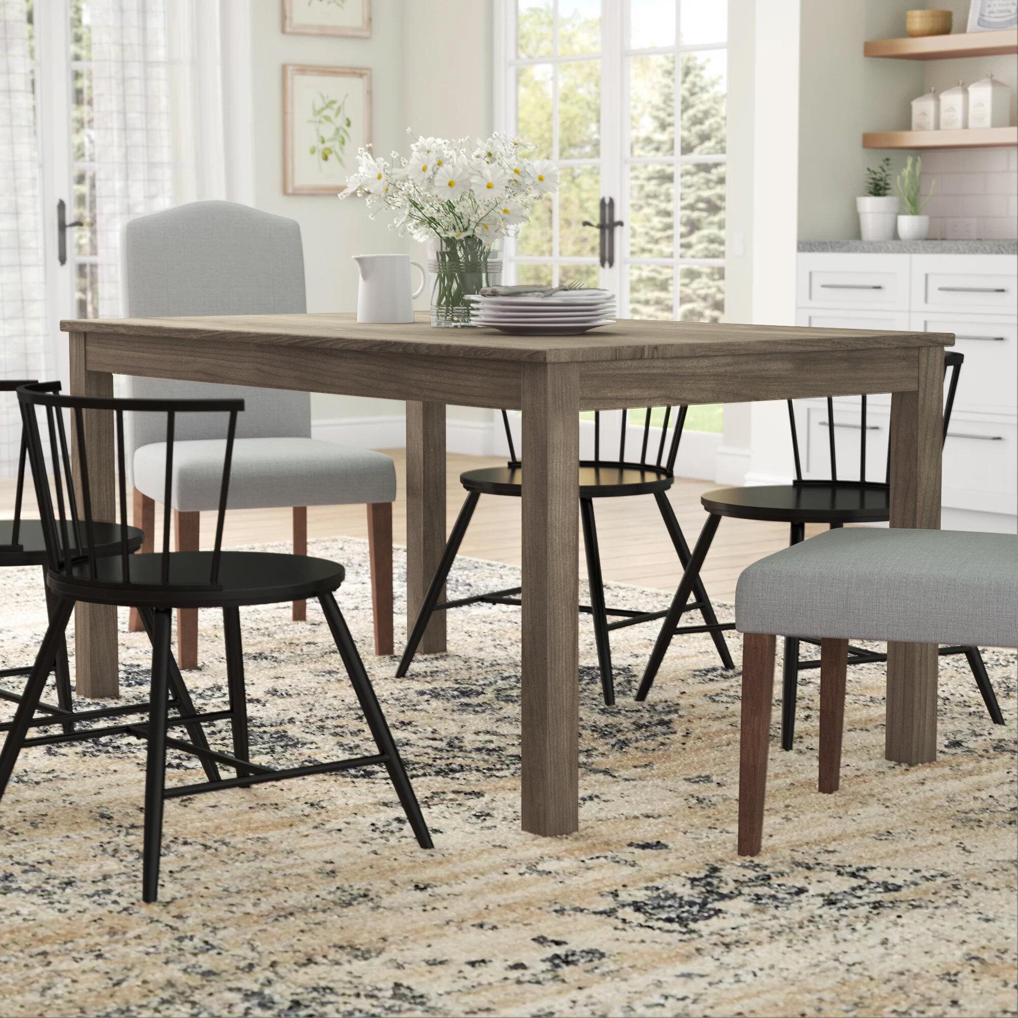 Gracie Oaks Selina Wood Dining Table Reviews Wayfair Ca