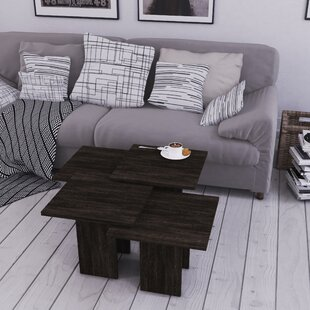 Marron 4 Piece Coffee Table Set with Tray Top