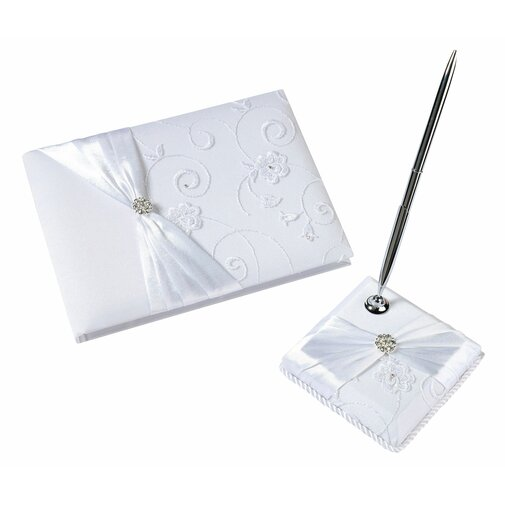 Lace Guest Book and Pen Set