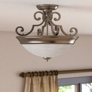 Bienville Three Arm Basic 2-Light Semi Flush Mount by Fleur De Lis Living