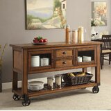 Whyalla Wooden Kitchen Cart by Loon Peak®