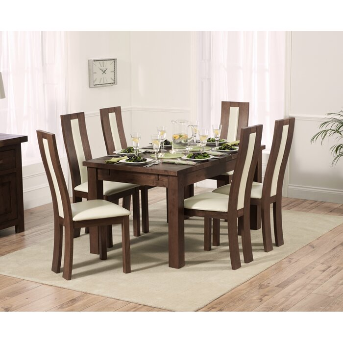 Sensational Pipers Extendable Dining Set With 6 Chairs Onthecornerstone Fun Painted Chair Ideas Images Onthecornerstoneorg