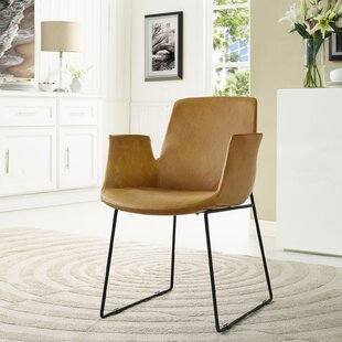 Sperber Upholstered Solid Back Arm Chair by Wrought Studio