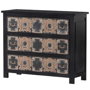 Ariha 3 Drawer Dresser by Bungalow Rose