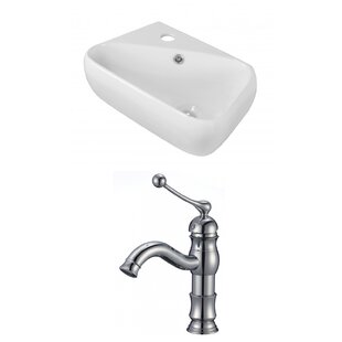 Comparison Ceramic 17.75 Bathroom Sink with Faucet and Overflow ByRoyal Purple Bath Kitchen