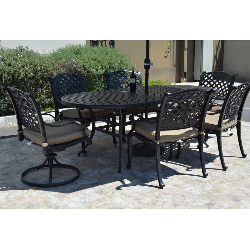 Darby Home Co Middleburgh 7 Piece Dining Set With Cushions Reviews Wayfair Ca