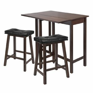 3 Piece Counter Height Table Set by Luxury Home