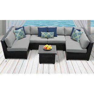 Medley 7 Piece Sectional Seating Group with Cushions