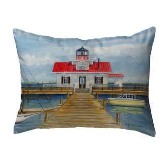 Breakwater Bay Gemma Montauk Lighthouse Indoor Outdoor Lumbar Pillow Wayfair