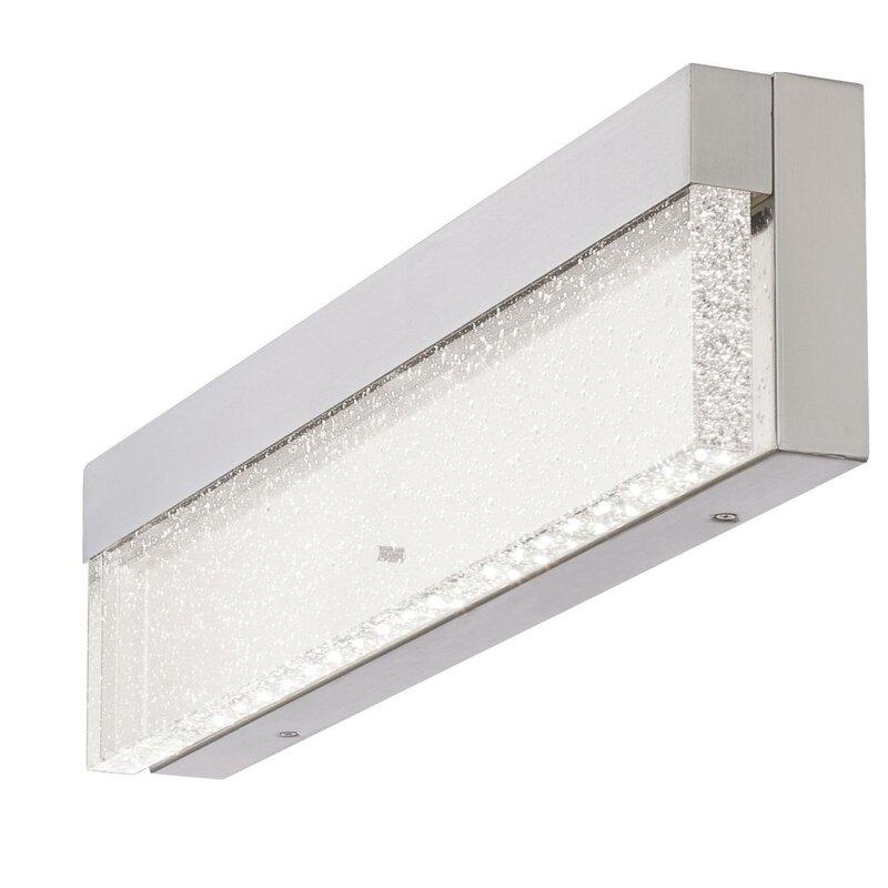Orren Ellis Witherington 1 Light Dimmable Led Brushed Nickel Vanity Light Wayfair