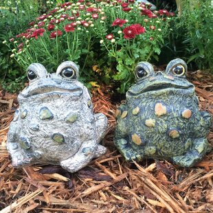 Perrault Toad Hollow 2 Piece Statue Set (Set Of 2) by Winston Porter