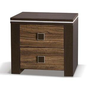 Nachttisch Camila mit 2 Schubladen von dCor des..