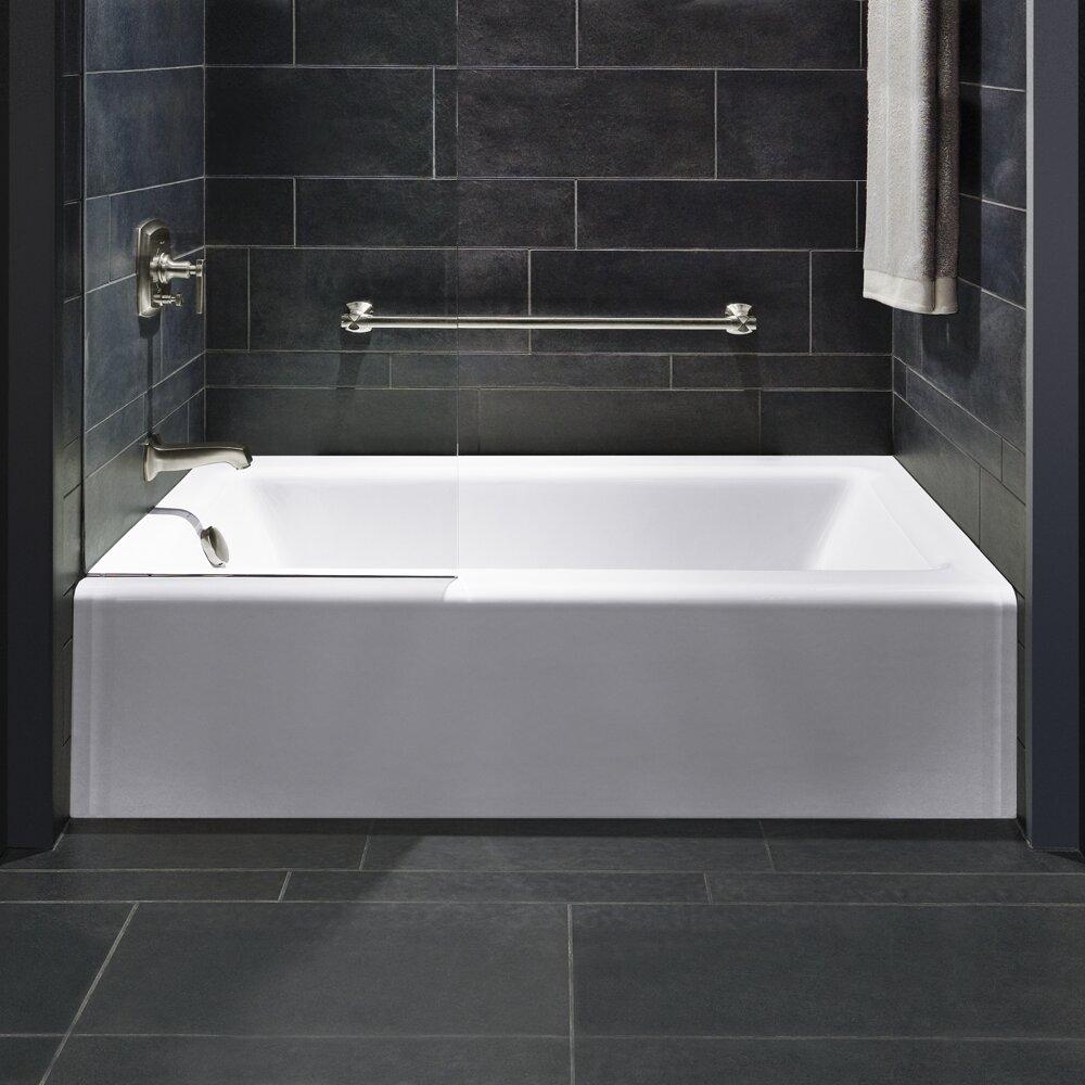 K 875 0 Kohler Bellwether Alcove 60 X 32 Soaking Bathtub Reviews Wayfair