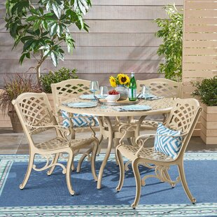 August Grove Lynx Outdoor 5 Piece Dining Set