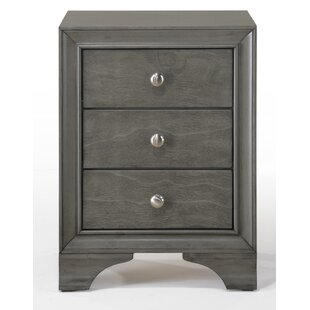 Bowdoin 3 Drawer Nightstand