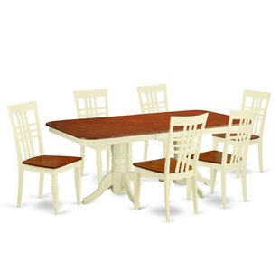 Beesley 7 Piece Buttermilk/Cherry Dining Set DarHome Co