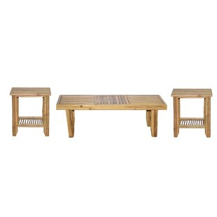 3 Piece Coffee Table Set by Bamboo54 Cheap