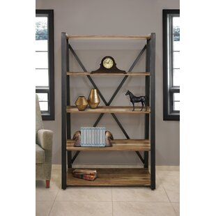 Stiner Wood Metal Etagere Bookcase