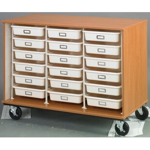Best Mobiles Folding 18 Compartment Cubby with Trays By Stevens ID Systems