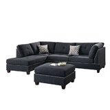 Ahnaya 104 Left Hand Facing Modular Sofa and Chaise with Ottoman by Red Barrel Studio®