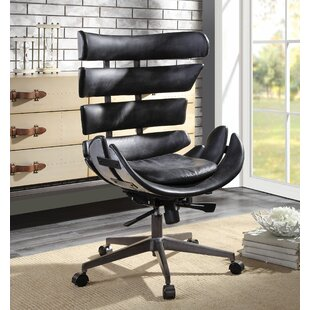 Norfork Genuine Leather Executive Chair by Orren Ellis Design